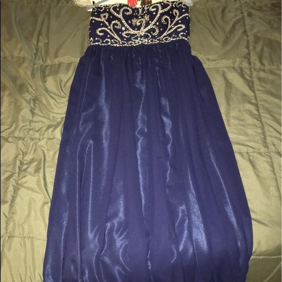 grace karin Dresses & Skirts - Floor length navy prom dress